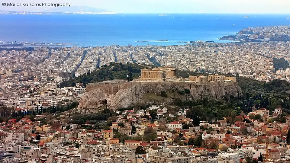The Acropolis from Lycabettos hill