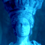 About the blue Caryatid