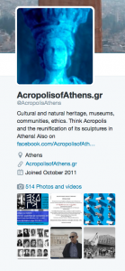 AcropolisofAthens.gr Twitter profile screenshot