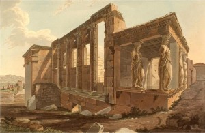 Edward Dodwell. Southwest View of the Erechtheion (1821). Photo source: Edward Dodwell: Views in Greece, London 1821, p. 39. Available online: http://commons.wikimedia.org/wiki/File:Dodwell1821039.jpg