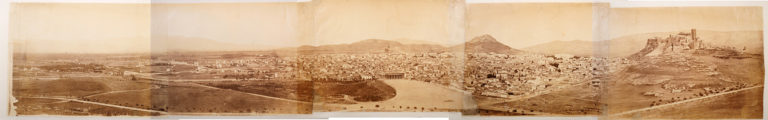 Panorama of the City of Athens (in five parts). Athens, c. 1865 · Paul Baron Des Granges · © Benaki Museum Photographic Archive