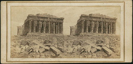 The northwestern facade of the Parthenon. Athens, c. 1865 · © Benaki Museum Photographic Archive