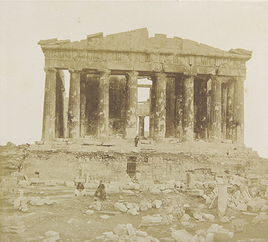 The western facade of the Parthenon. Athens, 1853-1854 · James Robertson · © Benaki Museum Photographic Archive