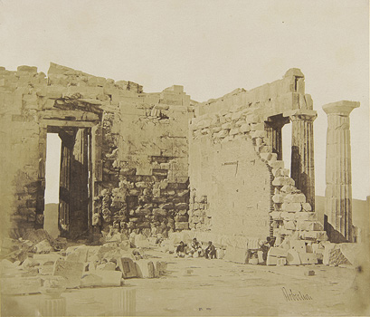 The interior of the Parthenon from the northeast. Athens, 1853-1854 · James Robertson · © Benaki Museum Photographic Archive