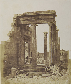 The northern entrance of the Erechtheion from the northeast. Athens, 1853-1854 · James Robertson · © Benaki Museum Photographic Archive