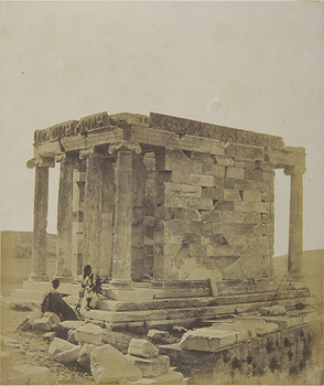 The Temple of Athena Nike from the northeast. Athens, 1853-1854 · James Robertson · © Benaki Museum Photographic Archive
