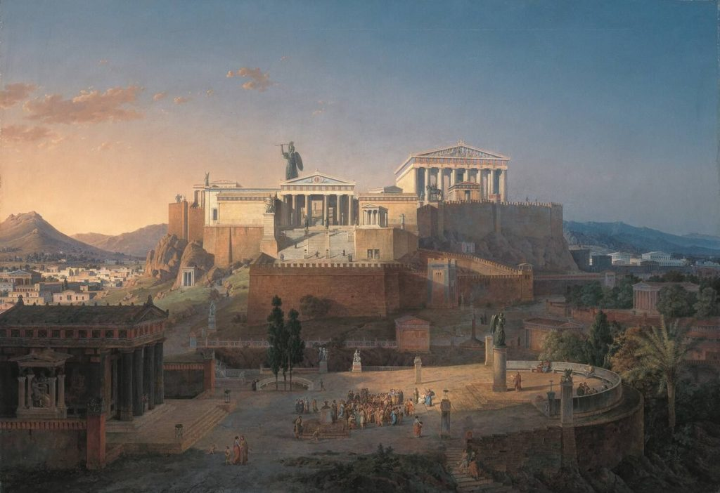 The Acropolis at Athens (1846) by Leo von Klenze